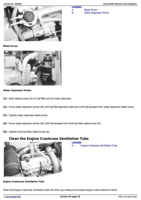 Second Additional product image for - John Deere 270LC Excavator Service Repair Technical Manual (tm1668)