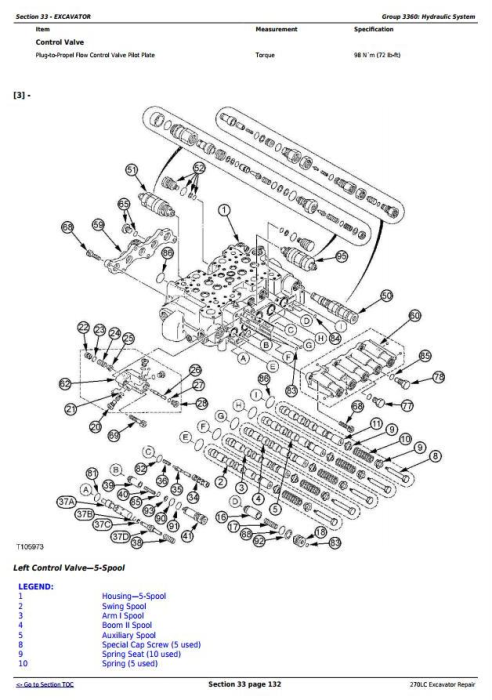 Fourth Additional product image for - John Deere 270LC Excavator Service Repair Technical Manual (tm1668)