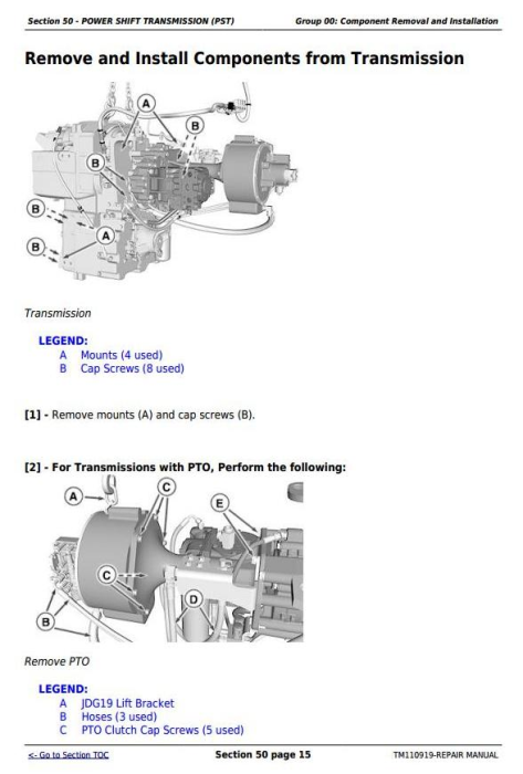 Fourth Additional product image for - John Deere 9460RT, 9510RT and 9560RT (9RT Series) Tractors Service Repair Technical Manual (TM110919)