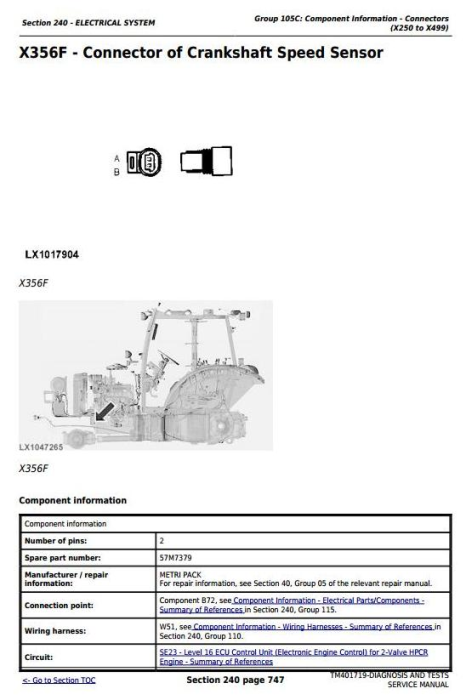 Third Additional product image for - John Deere 5080R, 5090R, 5100R, 5080RN, 5090RN, 5100RN Tractor Diagnostic & Tests Service Manual TM401719