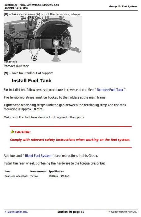 Third Additional product image for - John Deere Tractor 5080R, 5090R, 5100R, 5080RN, 5090RN, 5100RN (European) Service Repair Manual TM401819