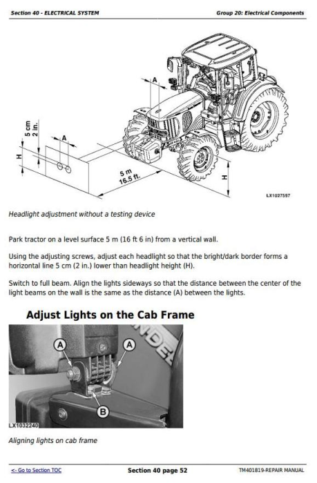 Fourth Additional product image for - John Deere Tractor 5080R, 5090R, 5100R, 5080RN, 5090RN, 5100RN (European) Service Repair Manual TM401819