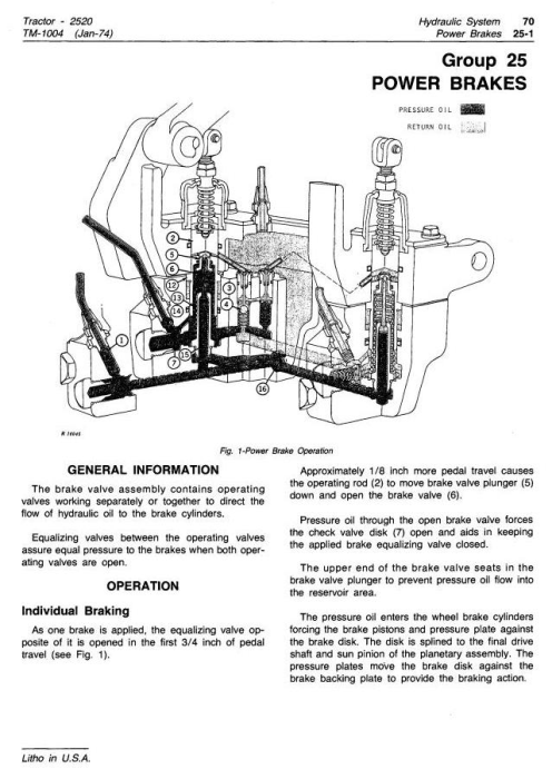 Fourth Additional product image for - John Deere 2520 Row Crop and Hi-Crop Tractors Technical Service Manual (tm1004)