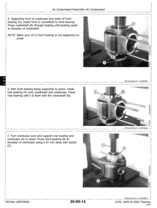 Second Additional product image for - John Deere 2700, 2800, 2900 Tractors All Inclusive Technical Service Manual (tm1564)