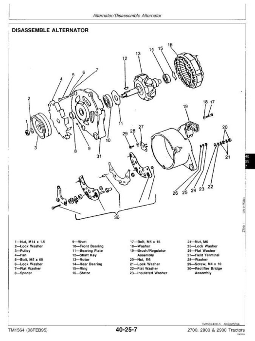 Third Additional product image for - John Deere 2700, 2800, 2900 Tractors All Inclusive Technical Service Manual (tm1564)