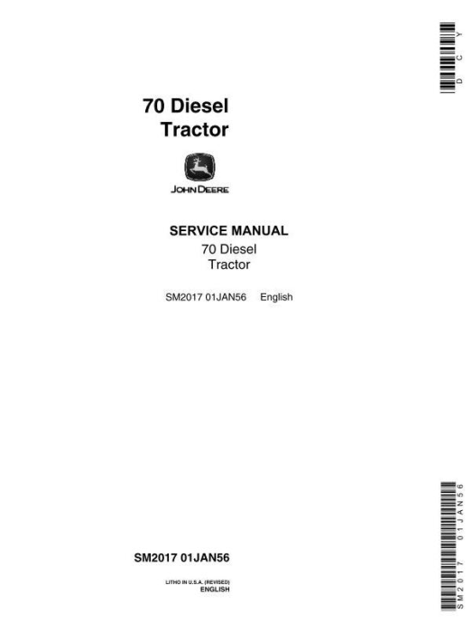 First Additional product image for - Service Manual for 70 (SN. 700001-) General-Purpose & Standard (Diesel) Tractor (sm2017)