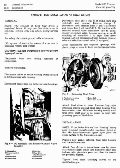 Fourth Additional product image for - John Deere 820 Tractors Technical Service Manual (tm4212)