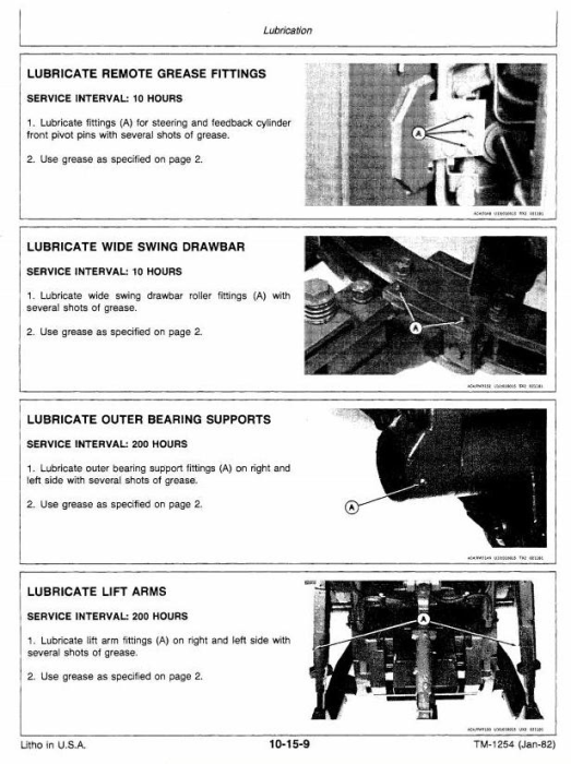 Second Additional product image for - John Deere 8850 4WD Articulated Tractors Technical Manual (tm1254)