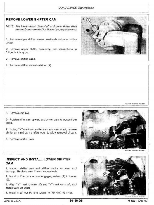 Third Additional product image for - John Deere 8850 4WD Articulated Tractors Technical Manual (tm1254)