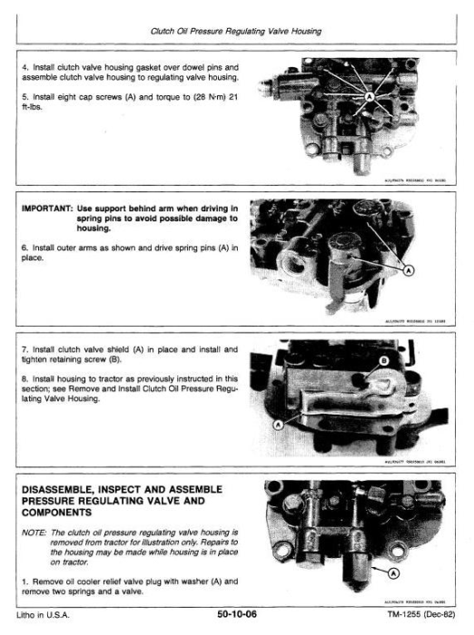 Second Additional product image for - John Deere 8450, 8650 4WD Articulated Tractors Technical Service Manual (tm1355)