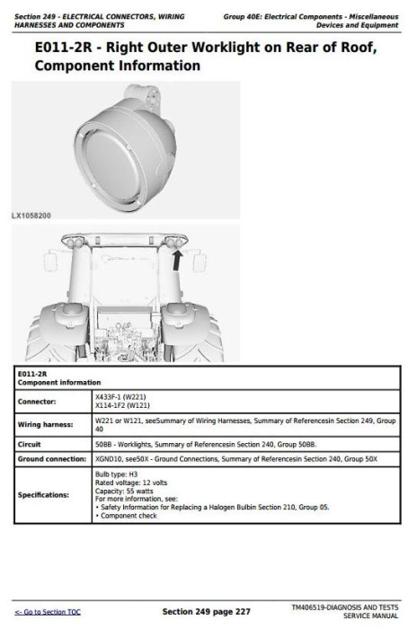 Fourth Additional product image for - John Deere Tractors 6090MC, 6090RC, 6100MC, 6100RC, 6110MC, 6110RC Diagnostic Service Manual (TM406519)