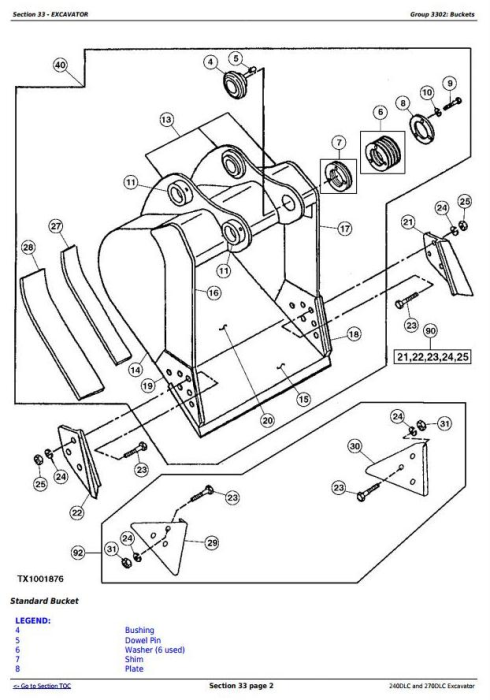 Third Additional product image for - John Deere 240DLC and 270DLC Excavator Service Repair Manual Technical (TM2323)