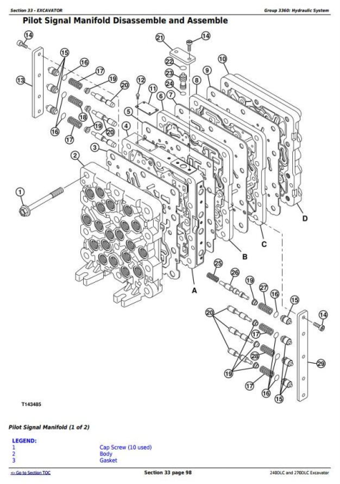 Fourth Additional product image for - John Deere 240DLC and 270DLC Excavator Service Repair Manual Technical (TM2323)