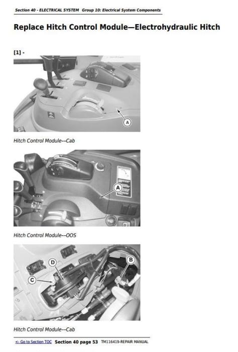 Third Additional product image for - John Deere 5075M, 5085M, 5100M, 5100MH, 5100ML, 5115M, 5115ML Technical Repair Manual (TM116419)