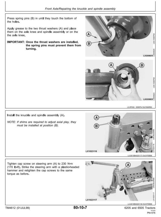 Third Additional product image for - John Deere 6205, 6505 Tractors Service Repair Technical Manual (tm4612)