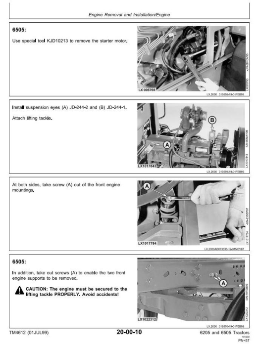Fourth Additional product image for - John Deere 6205, 6505 Tractors Service Repair Technical Manual (tm4612)