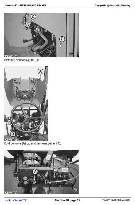 Fourth Additional product image for - John Deere Tractors 6130, 6230, 6330, 6430, 6530, 6534, 6630 (European) Service Repair Manual (TM400519)