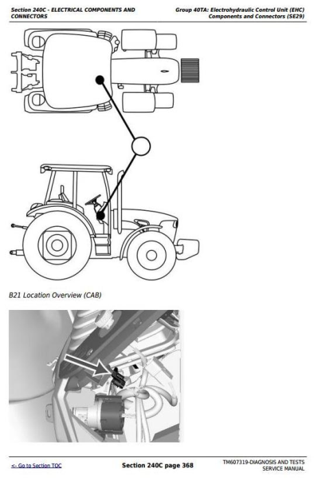 Fourth Additional product image for - John Deere Tractors 6105D, 6115D, 6130D, 6140D Diagnostic and Tests Service Manual (TM607319)