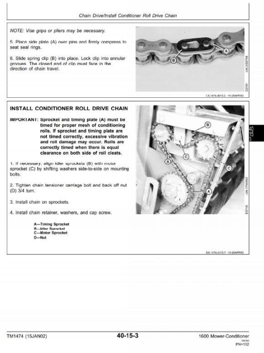 Second Additional product image for - John Deere Mower-Conditioner Model 1600 Diagnostic and Repair Technical Service Manual (tm1474)