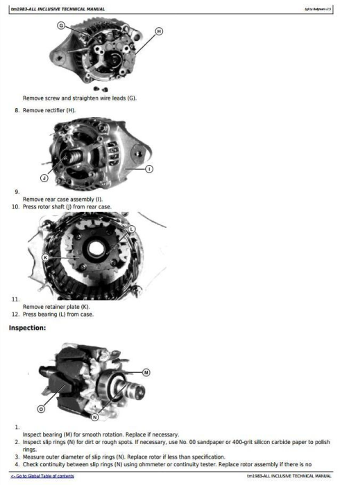 Second Additional product image for - John Deere 4010 Compact Utility Tractor All Inclusive Technical Service Manual (tm1983)