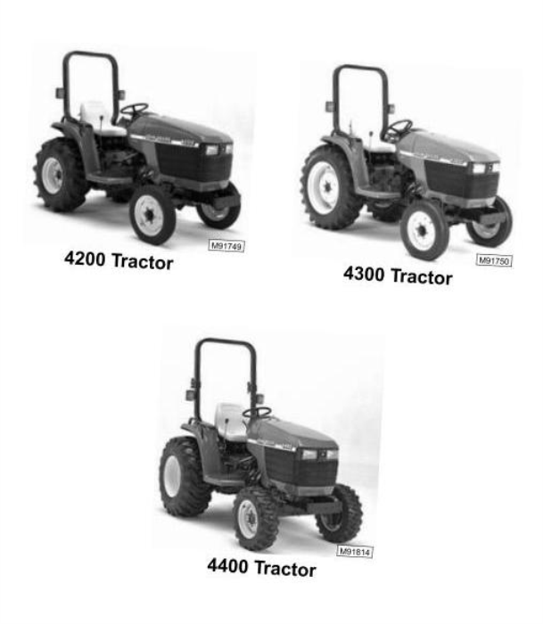 Second Additional product image for - John Deere 4200, 4300, 4400 Compact Utility Tractors Technical Service Manual (tm1677)