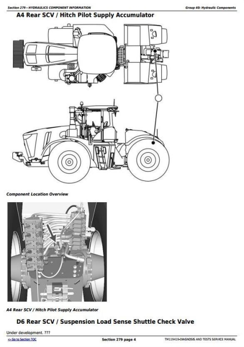 Third Additional product image for - John Deere 9370R, 9420R, 9470R, 9520R, 9570R, 9620R (X) Tractors Diagnosis Service Manual (TM119419)