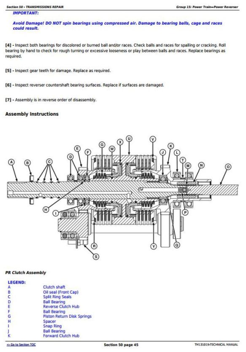 Second Additional product image for - John Deere 4044M 4044R 4049M 4049R 4052M 4052R 4066M 4066R Tractors Technical Service Manual (TM131019)