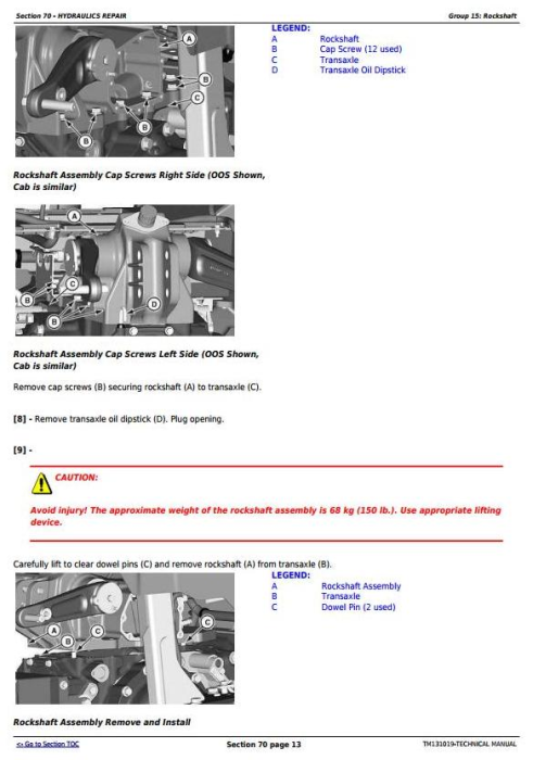 Third Additional product image for - John Deere 4044M 4044R 4049M 4049R 4052M 4052R 4066M 4066R Tractors Technical Service Manual (TM131019)