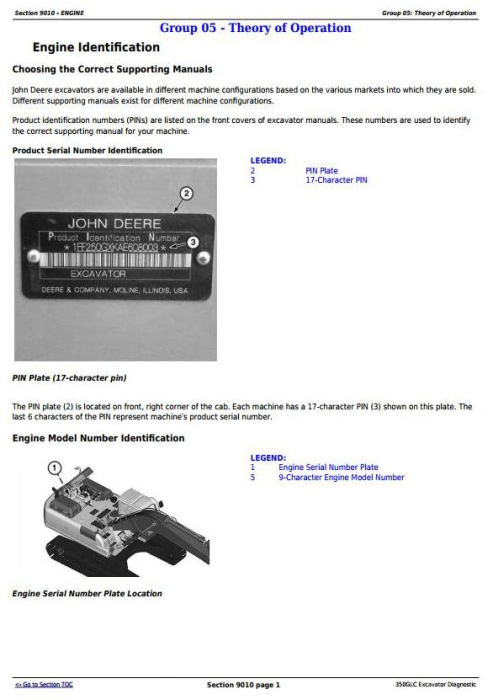 Fourth Additional product image for - John Deere 350GLC PIN:1FF350GX__F809192 Excavator Diagnostic, Operation and Test Manual (TM13206X19)