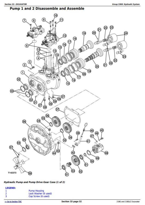 Third Additional product image for - John Deere 210G and 210GLC (PIN: 1FF210GX__F521988-) Excavator Service Repair Manual (TM13351X19)