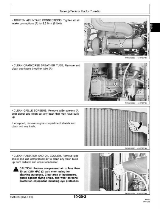 Second Additional product image for - John Deere 4055, 4255, 4455 Tractors Service Repair Technical Manual (tm1458)