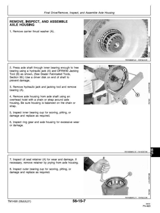 Third Additional product image for - John Deere 4055, 4255, 4455 Tractors Service Repair Technical Manual (tm1458)