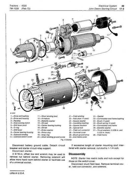 Third Additional product image for - John Deere 4320 Tractors Diagnostic and Repair Technical Service Manual (tm1029)
