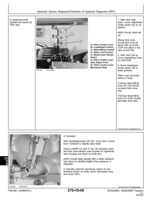 Fourth Additional product image for - John Deere 4555, 4560, 4755, 4760, 4955, 4960 Tractors Diagnosis and Tests Service Manual (tm1461)