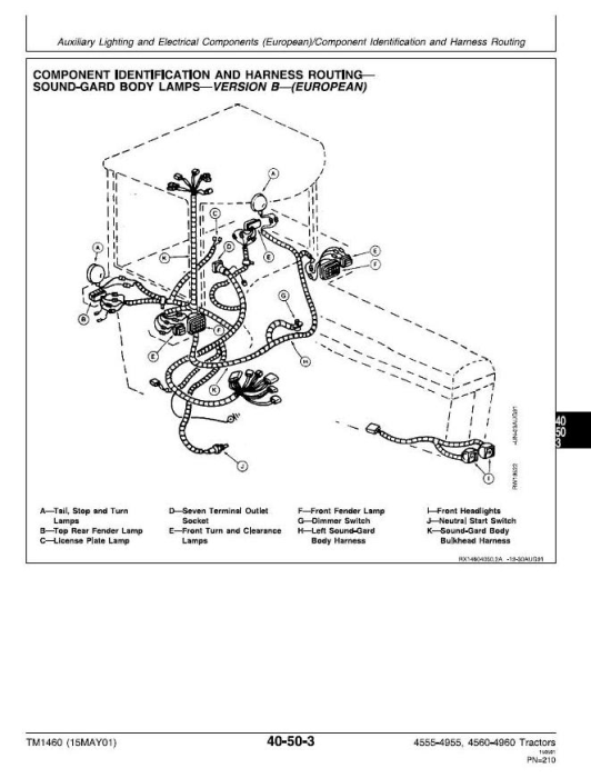 Third Additional product image for - John Deere 4555, 4560, 4755, 4760, 4955, 4960 Tractors Service Repair Technical Manual (tm1460)