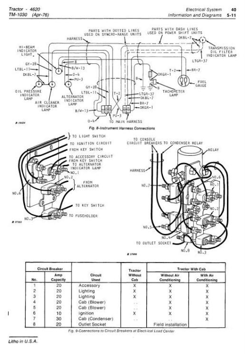 Third Additional product image for - John Deere 4620 Tractors Diagnostic and Repair Technical Service Manual (tm1030)