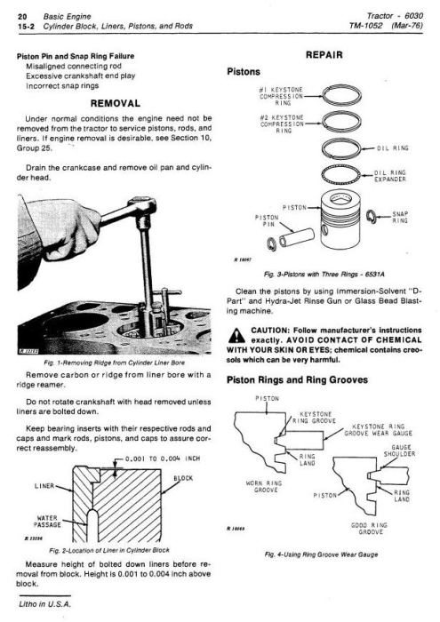 Fourth Additional product image for - John Deere 6030 Row-Crop Tractor Technical Service Manual (tm1052)