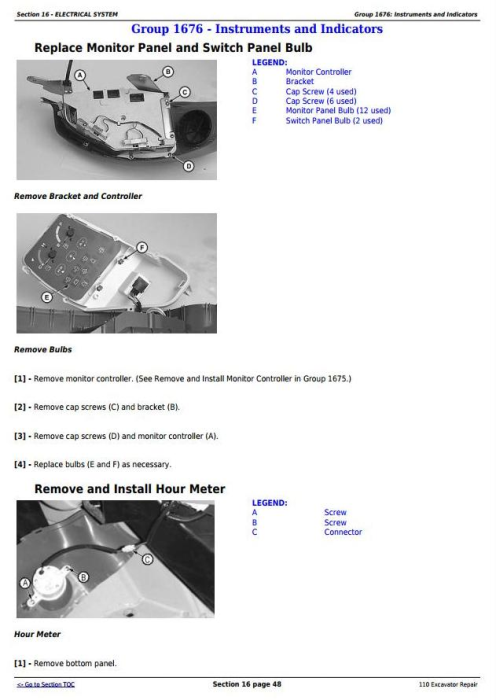 Fourth Additional product image for - John Deere 110 Excavator Service Repair Technical Manual (tm1658)