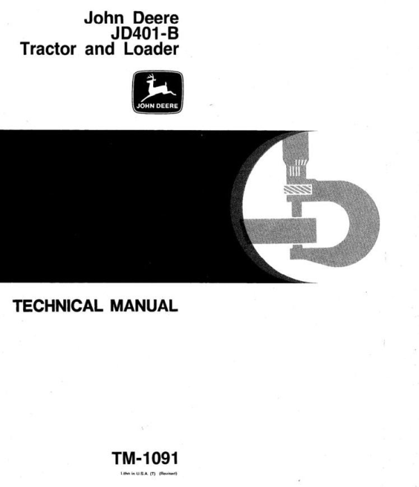 First Additional product image for - John Deere 401B Utility Construction Tractor Technical Service Manual (tm1091)