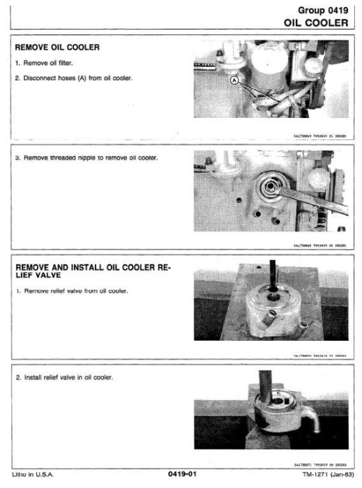 Third Additional product image for - John Deere 401D Utility Construction Tractor Technical Manual (tm1271)