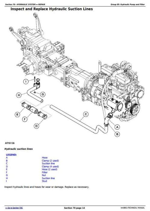 Second Additional product image for - John Deere 5215F, 5315F, 5515F, 5615F, 5215V, 5315V, 5515V, 5615V Tractor Technical Service Manual TM4861