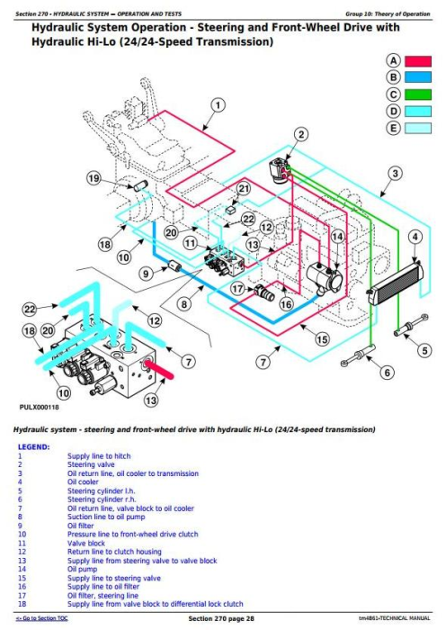 Fourth Additional product image for - John Deere 5215F, 5315F, 5515F, 5615F, 5215V, 5315V, 5515V, 5615V Tractor Technical Service Manual TM4861