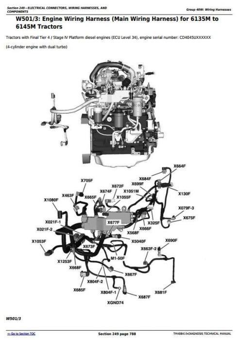 Second Additional product image for - John Deere 6110M, 6120M, 6125M, 6130M, 6135M, 6140M, 6145M, 6155M, 6175M, 6195M Diagnostic&Tests TM408419