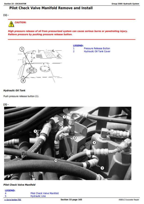 Fourth Additional product image for - John Deere 450DLC Excavator Service Repair Technical Manual (TM2362)