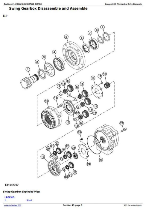 Second Additional product image for - John Deere 60D Compact Excavator Service Repair Technical Manual (TM10761)