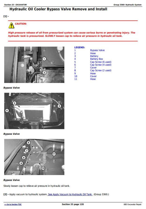 Third Additional product image for - John Deere 60D Compact Excavator Service Repair Technical Manual (TM10761)