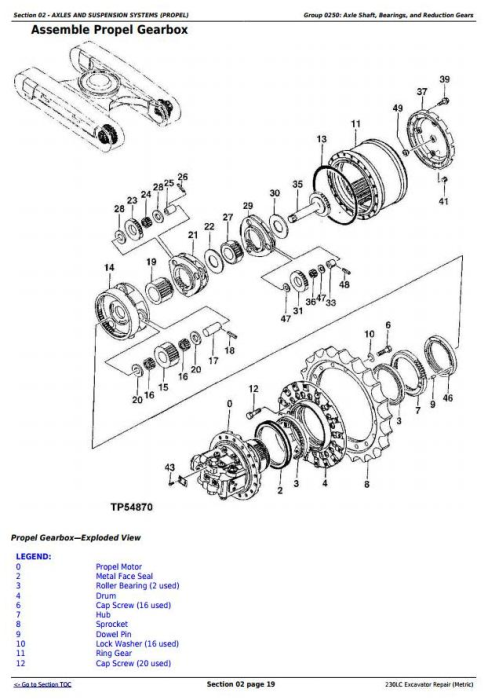 Second Additional product image for - John Deere 230LC Excavator (Metric) Service Repair Technical Manual (tm1666)