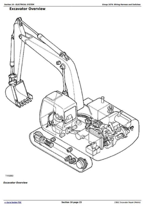 Fourth Additional product image for - John Deere 230LC Excavator (Metric) Service Repair Technical Manual (tm1666)