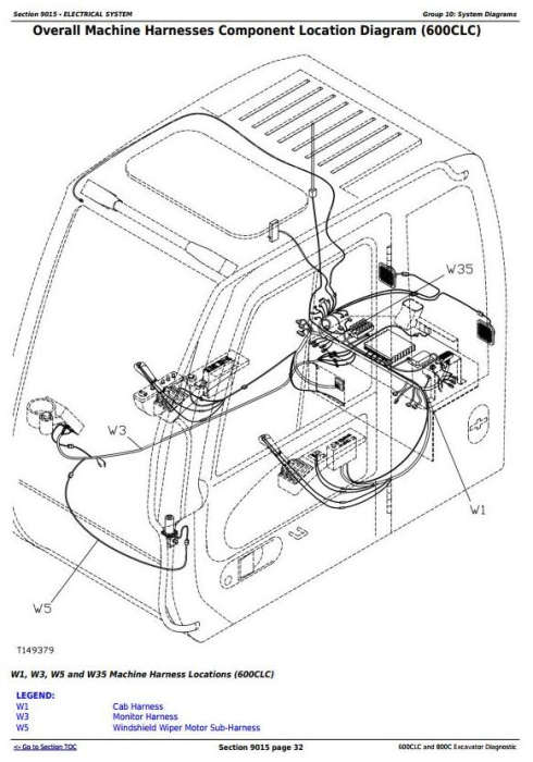 Fourth Additional product image for - John Deere 600CLC and 800C Excavator Diagnostic, Operation and Test Service Manual (TM1922)