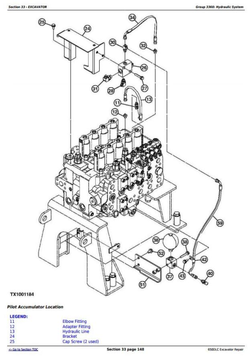Third Additional product image for - John Deere 650DLC Excavator Service Repair Technical Manual (TM10010)